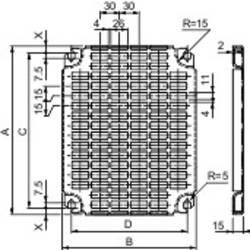 Perforované dosky Schneider NSYMR106 Schneider Electric NSYMR106, (d x š) 1000 mm x 600 mm