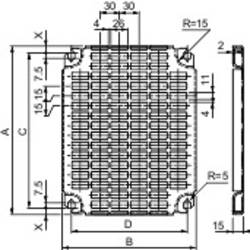 Perforované dosky Schneider NSYMR55 Schneider Electric NSYMR55, (d x š) 500 mm x 500 mm