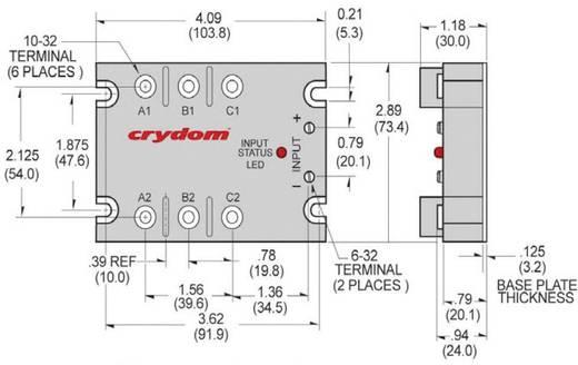 Halbleiterrelais 1 St. Crydom D53TP50D-10 Last-Strom (max.): 50 A Schaltspannung (max.): 530 V/AC Sofortschaltend