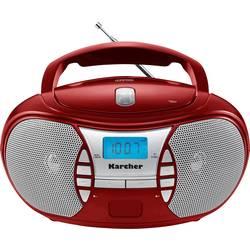 FM rádio s CD prehrávačom Karcher RR 5025, AUX, CD, UKW, červená