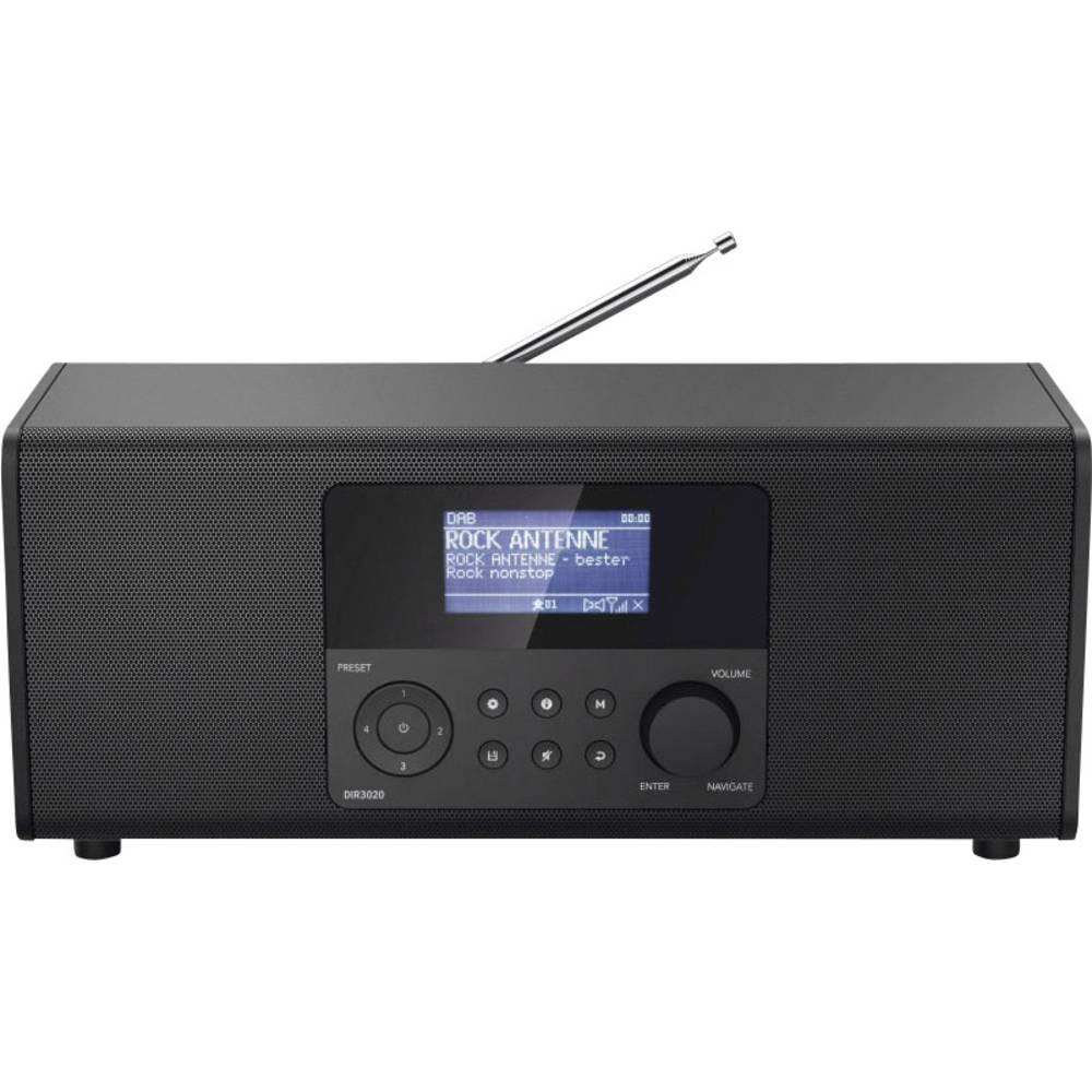 Hama DIR3020 Tafelradio met internetradio DAB+, FM WiFi, Internetradio Zwart