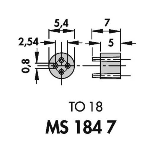 Transistor-Abstandshalter 1 St. TRANSISTOR-ABSTANDHALTER Fischer Elektronik Passend für Gehäuse (Halbleiter): TO-18 (Ø x H) 5.4 mm x 7 mm