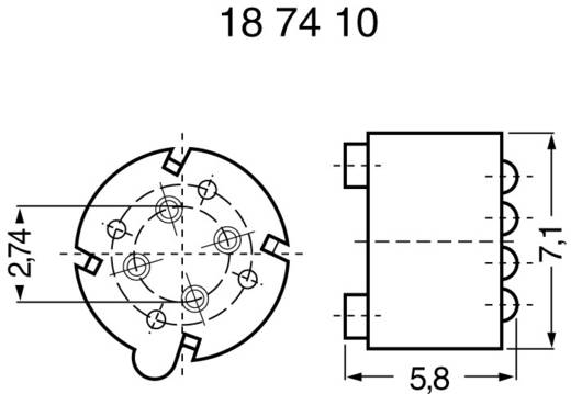 Transistor-Abstandshalter 1 St. TRANS.-U.IC-FASSUNG Fischer Elektronik Passend für Gehäuse (Halbleiter): TO-5 (Ø x H) 9.2 mm x 7 mm