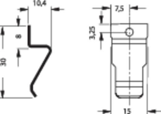 Transistor-Haltefeder, 1fach Fischer Elektronik Passend für: TO-218, TO-220, TO-247, TO-264, SOT-32 Kühlkörper-Besonderheiten mit Lochung (L x B x H) 15 x 10.4 x 30 mm