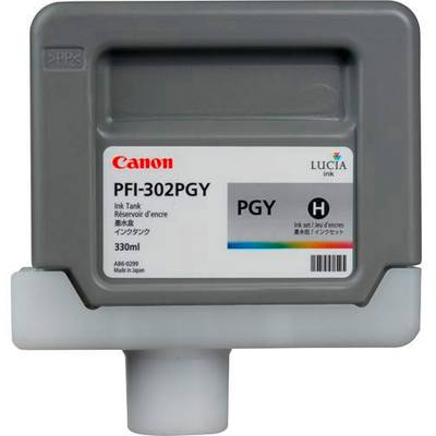 Canon Tintenpatrone PFI-302PGY Original Hell Grau 2218B001 Druckerpatrone Preisvergleich