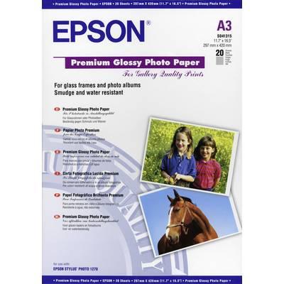 Epson Premium Glossy Paper A3 C13S041315 Fotopapier DIN A3 20 Blatt Glänzend Preisvergleich