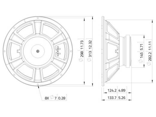 Lavoce Fbass12 20 12 Zoll 30 Cm Lautsprecher Chassis 200 W 8 ω Kaufen