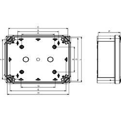 PC skrinka Schneider Electric NSYTBP1397 NSYTBP1397, (š x v x h) 80 x 138 x 72 mm, polykarbonát, svetlo sivá (RAL 7035), 2 ks