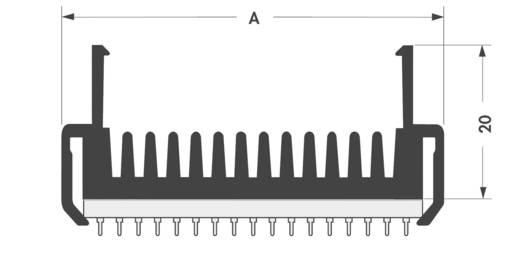 Kühlkörper 7.6 K/W (L x B x H) 52 x 50 x 20 mm Fischer Elektronik SK 430 50 SA