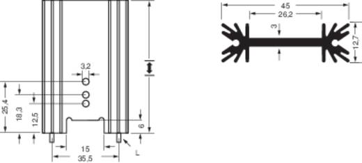 Strangkühlkörper 7 K/W (L x B x H) 45 x 38.1 x 12.7 mm TO-220, TO-218, TO-3P Fischer Elektronik A