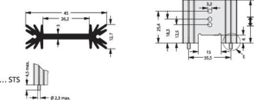 Fischer Elektronik SK 409 50,8 STS Strangkühlkörper 6.2 K/W (L x B x H) 50.8 x 45 x 12.7 mm TO-220, TO-218, TO-3P
