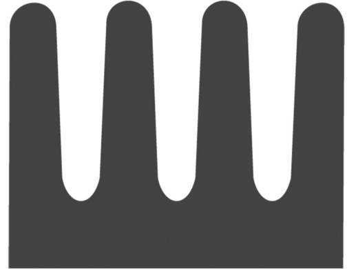 Kühlkörper 83 K/W (L x B x H) 8.5 x 6.3 x 4.8 mm DIL-6, DIL-8 Fischer Elektronik ICK 6/8 L