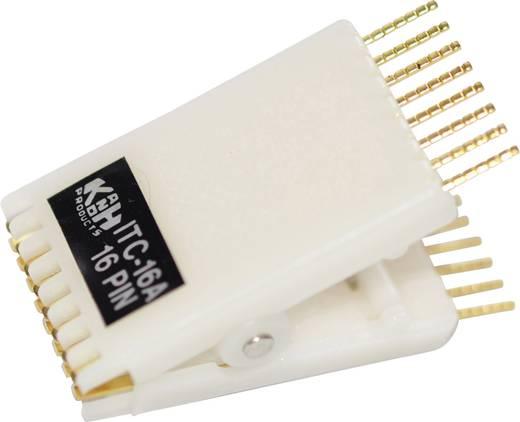 IC-Testclip 1 St. 187909 Passend für Rastermaß: 2.54 mm Passend für Gehäuse (Halbleiter): DIL-14, DIL-16, DIP-14, DIP-16