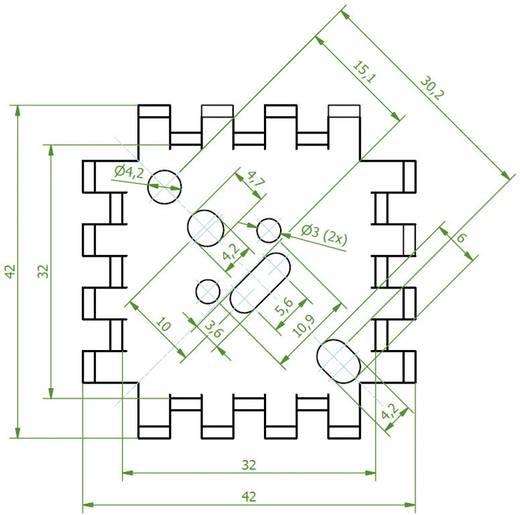 Fingerkühlkörper 6.8 K/W (L x B x H) 42 x 42 x 17 mm TO-3, TO-55, SOT-9, SOT-32, TO-220 Fischer Elektronik FINGERKUEHLKO