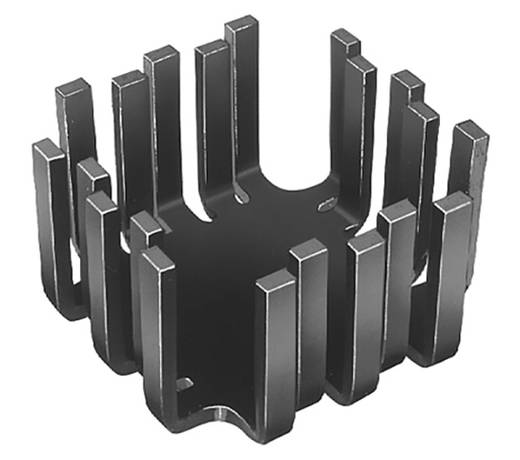 Fingerkühlkörper 8 K/W (L x B x H) 45 x 45 x 12.7 mm TO-3, TO-55, SOT-9, SOT-32, TO-220 Fischer Elektronik FK 202 SA-CB