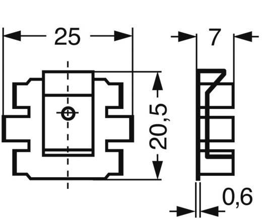 Kühlkörper 25 K/W (L x B x H) 25 x 20.5 x 7 mm TO-220 Fischer Elektronik FK 220 SA-220