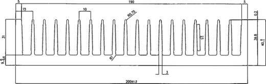 Profilkühlkörper 0.68 K/W (L x B x H) 150 x 200 x 40 mm Pada Engineering 8071/150/N