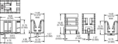 Dissipatore Aavid Thermalloy 576802B03100 27.3 K/W (L x L x A) 19.05 x 14.48 x 12.7 mm TO-220