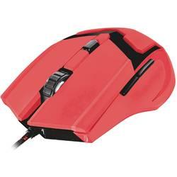 Optická USB herná myš Trust GXT101-SR Specta 22391, podsvietenie, červená