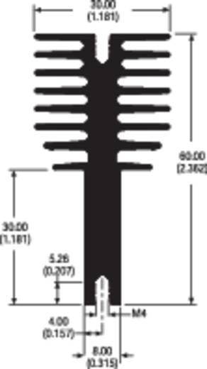 Clipkühlkörper 2.5 K/W (L x B x H) 100 x 30 x 60 mm Aavid Thermalloy 0S520/100/N