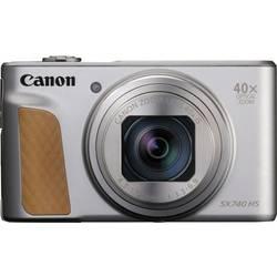 Digitálny fotoaparát Canon PowerShot SX740 HS, 20.3 Megapixel, Zoom (optický): 40 x, strieborná