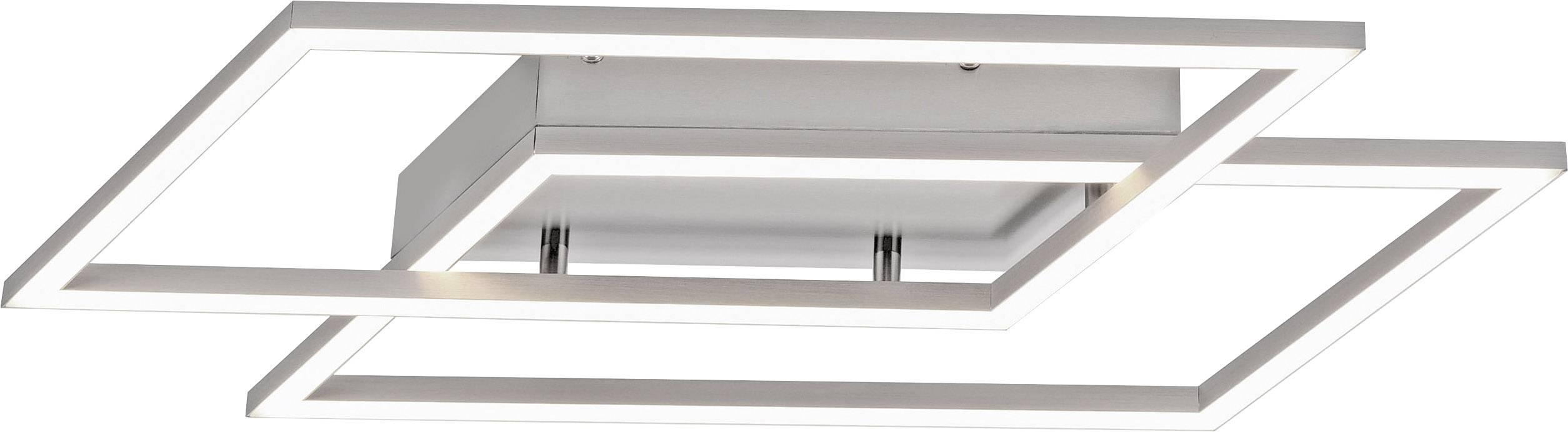 Paul Neuhaus INIGO 8192 55 LED Deckenleuchte Edelstahl 24 W Dimmbar über Lichtschalter, Memory Funktion