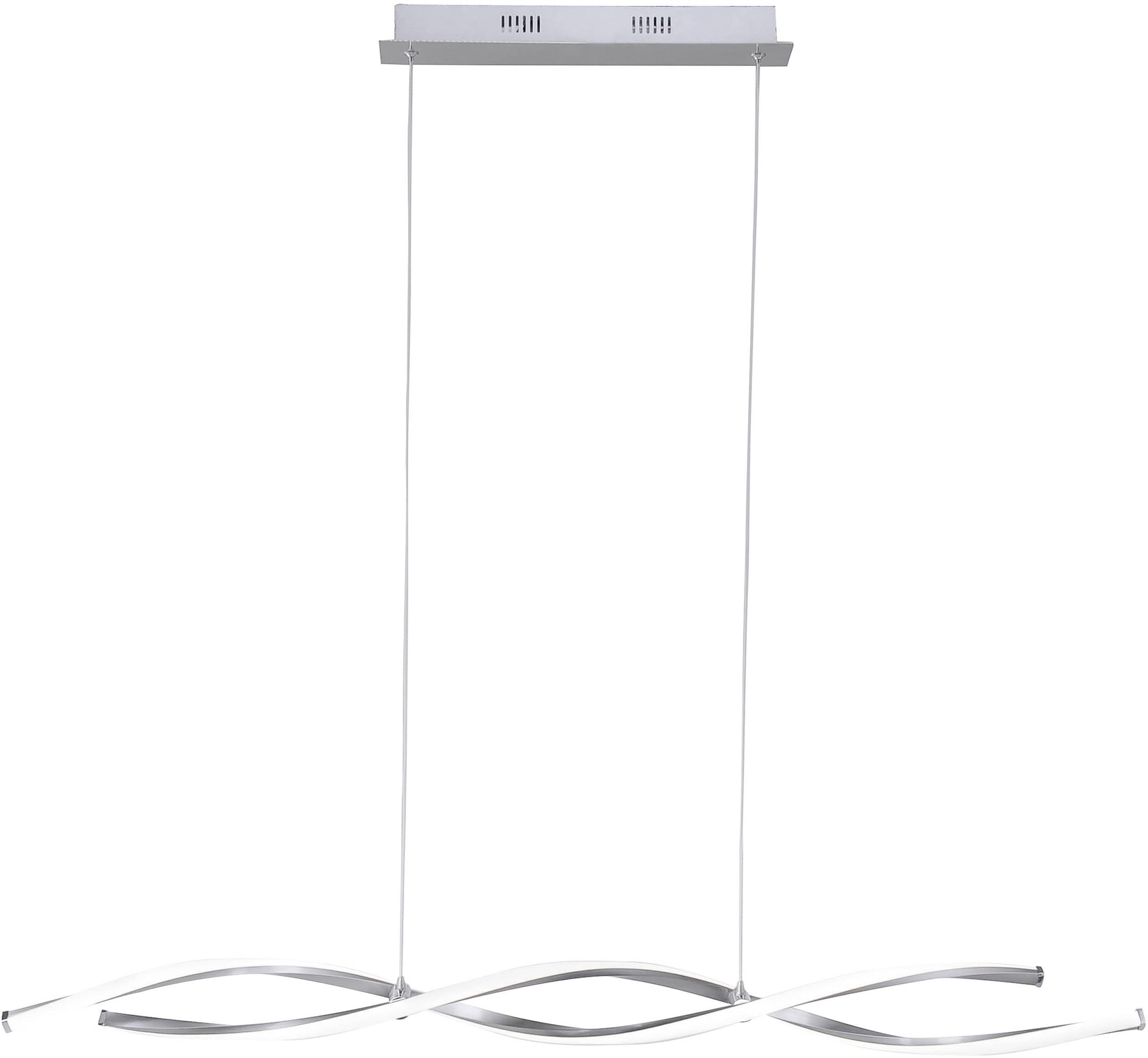 Paul Neuhaus INIGO 8190 55 LED Deckenleuchte Edelstahl 32 W Warmweiß Dimmbar über Lichtschalter, Memory Funktion