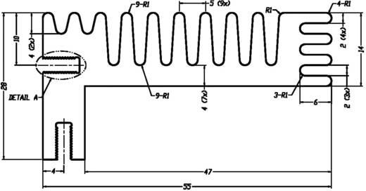 CTX Thermal Solutions CTX/96/84 Profilkühlkörper 3.8 K/W (L x B x H) 84 x 55 x 28 mm TO-220, TOP-3