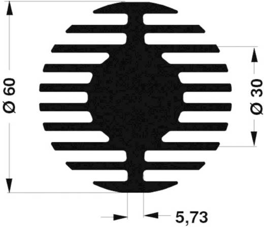 LED-Kühlkörper 2.61 K/W (Ø x H) 60 mm x 15 mm Fischer Elektronik SK 578 15 ME