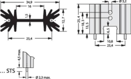 Profilkühlkörper 14 K/W (L x B x H) 34.9 x 25.4 x 12.7 mm TO-220, SOT-32 Fischer Elektronik SK 104 25,4 STS