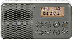DAB+ přenosné rádio Sangean DPR-64, FM, šedá, bílá