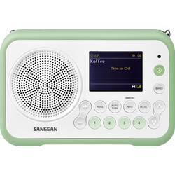 DAB+ přenosné rádio Sangean DPR-76, FM, bílá, zelená