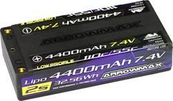 Image of ArrowMax Modellbau-Akkupack (LiPo) 7.4 V 4400 mAh Zellen-Zahl: 2 55 C Shorty Hardcase 4 mm