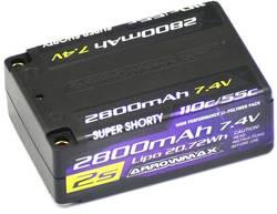 Image of ArrowMax Modellbau-Akkupack (LiPo) 7.4 V 2800 mAh Zellen-Zahl: 2 55 C Shorty Hardcase 4 mm
