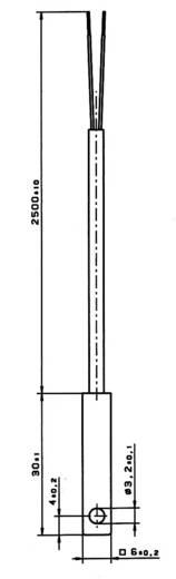 PT100 Platin-Temperatursensor Heraeus W-SZK(0) -20 bis +100 °C