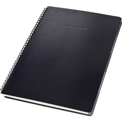Sigel Spiralblock CONCEPTUM® CO840 Hardcover, mit versetzbarem Register Schwarz DIN A4 kar Preisvergleich