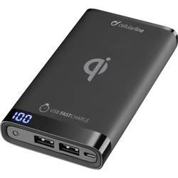 Bezdrôtový powerbank - nabíjačka Cellularline FREEPMANTA8WIRK, Qi štandard, čierna