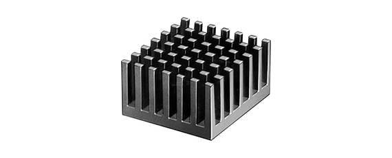 Eloxierter Kühlkörper geeignet für CPU und PGA