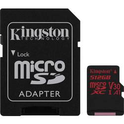 Pamäťová karta micro SDXC, 512 GB, Kingston Canvas React, Class 10, UHS-I, Class 3 UHS-I , v30 Video Speed Class, vr. SD adaptéru