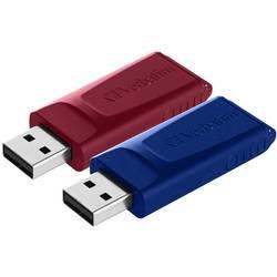 USB flash disk Verbatim Slider 49327, 32 GB, USB 2.0, červená, modrá