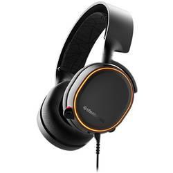 Steelseries Arctis 5 RGB herný headset s USB, jack 3,5 mm stereo, káblový cez uši čierna