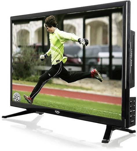Xoro HTC 2446 LED-TV 59.9 cm 23.6 Zoll EEK A (A++ - E) DVB-T2, DVB-C, DVB-S, HD ready, DVD-Player, PVR ready, CI+ Schwar