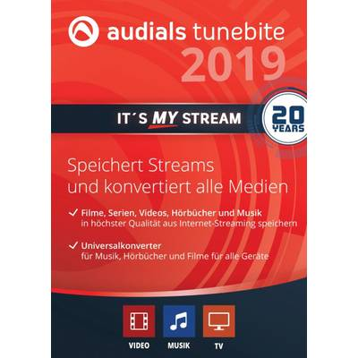 Audials Audials Tunebite 2019 Platinum Vollversion, 1 Lizenz Windows Musik-Software Preisvergleich