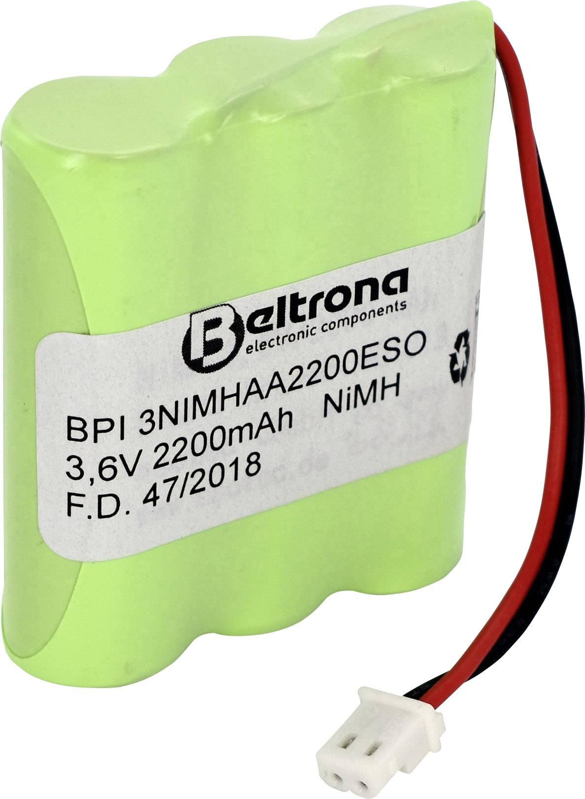 Beltrona Solarleuchten Pack 901013 Akkupack 3x Mignon (AA) Stecker NiMH 3.6 V 2000 mAh