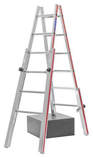 Hymer 412312 Aluminium Stufen Doppelleiter Klappbar 12 8 Kg Kaufen