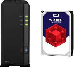 NAS server Synology DiskStation DS118-4TB-RED, 4 TB, vybaven s WD RED
