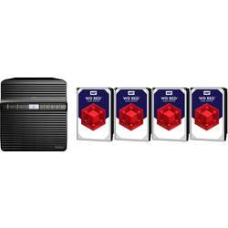 NAS server Synology DiskStation DS418j DS418J-12TB-RED, 12 TB, vybavený s WD RED