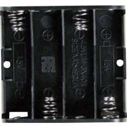 Bateriový držák na 4x AA Takachi SN34S, tlačítkové připojení , (d x š x v) 61.9 x 57.2 x 15 mm