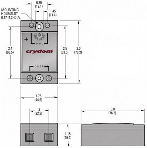 Crydom Halbleiterrelais 1 St. CMD6050 Last-Strom (max.): 50 A Schaltspannung (max.): 660 V/AC Nullspannungsschaltend