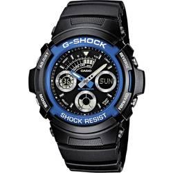 Náramkové hodinky Casio AW-591-2AER, (d x š x v) 52 x 46.4 x 14.9 mm, modrá, čierna